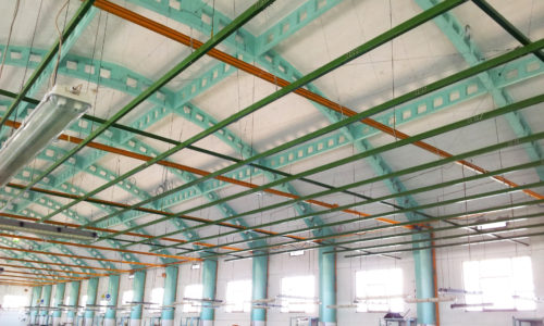 Lightwieight load-bearing structures, ceilings and roofs