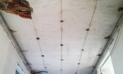 Strengthening of ceilings – Anti-delamination
